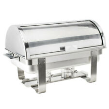 Roll Top Stainless Steel DELUXE Chafer Chafing Dish 8 QT Full Size