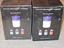 NEW IN BOX COLOR CHANGING CANDLE BY LUNA CANDLE SPRING RAIN FRAGRANCE