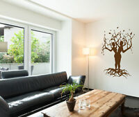 ik178 Wall Decal Sticker Decor trees people a couple interior bed