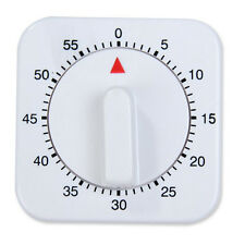 Square 60 Minute Mechanical Kitchen Cooking Timer Food Preparation Baking GO