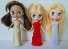 Mini Blythe Doll Clothes 3 EVENING GOWNS Petite & Littlest Pet Shop NO DOLLS d4e