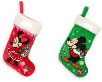 Disney Store Minnie or Mickey Mouse Christmas Stocking Red Green 2014 New