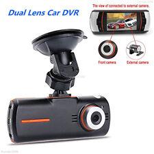 "2.7"" 1080P HD Dual Lens Car Dash Cam DVR Rear Camera Night Vision Video Recorder"