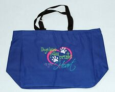 CANVAS Zippered Tote Bag with Embroidered DOG PET Design, School Bag