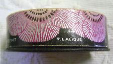 ANCIENNE BOITE VIDE PARFUM PAVOTS D'ARGENT ROGER ET GALLET RENE LALIQUE N2806