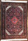 Antique Handmade HAMDAN Carpet - Circa 1940s - VERY RARE