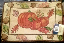 """New listing Set of 4 Pumpkin Tapestry Fall Thanksgiving Autumn Acorn Placemats Nwt 13"""" x 18"""""""