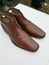 Mens TED BAKER 100% Leather, Brown Lace-up Ankle Boots UK 10 (44 ).