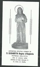 Estampa antigua de Santa Elisabetta andachtsbild santino holy card santini