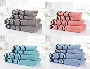 Bedding Heaven® 100% Cotton Towel Sets. Grey, Turquoise, Coral or Denim SIROCCO