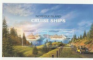 2018 Norfolk isl. Cruise Ships miniature sheet. MUH. Going cheap