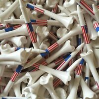 "Pride Evolution USA American Flag 3 1/4"" 3.25 Golf Tees White - You Choose the #"