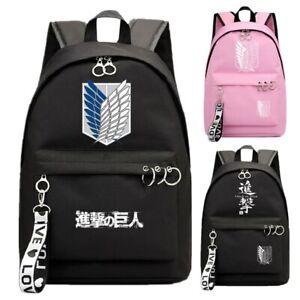 Attack on Titan Backpack Kids Teens School Book Bags Mochila Shoulder Travel Bag