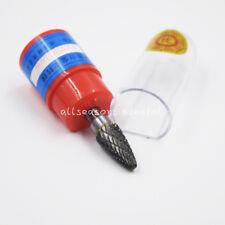 """1 Pcs Cylindrical Tungsten Carbide Burr Bur Cutter Tool Grinder Bit 1/4"""" Shank F"""