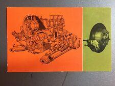1965 Porsche 911 Engine & Disc Brake Postcard Post Card RARE!! Awesome L@@K