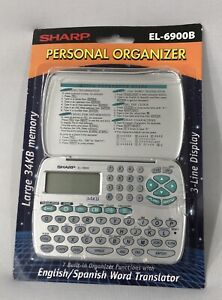 Sharp EL-6900B Electronic Personal Organizer 34KB Memory NIP Silver