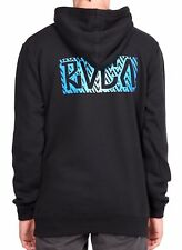 King of RVCA Black Pullover Hoodie - Hooded Jumper. Size L. NWT, RRP $79.99.