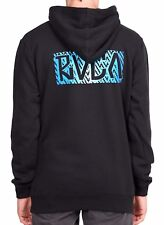 King of RVCA Black Pullover Hoodie - Hooded Jumper. Size S. NWT, RRP $79.99.