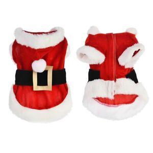Pet Dog Santa Costume Christmas Winter Clothes Jackets XXS XS SMALL MEDIUM LARGE