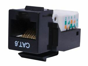 CAT6 Tool-less Keystone Jack 90 Degree 110 UTP Black, Blue, Orange, Green, Red