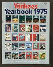 1975 New York Yankees Yearbook, Includes foldout of Babe Ruth, Mantle, Gehrig