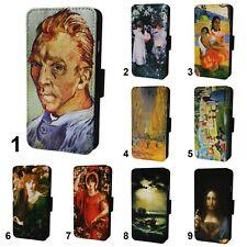 Famous Art Paintings Flip Phone Case Cover Wallet - Fits Iphone 6 7 8 X 11