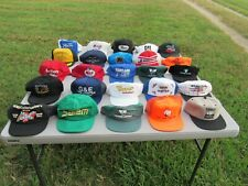 VINTAGE 1980s-90s, LOT OF 25, TRUCKER HAT, SOME PATCHES, FULL & MESH, SNAP BACK