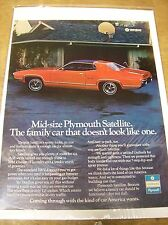 Original Plymouth Satellite Magazine Ad - Family Car That Doesn't Look Like One