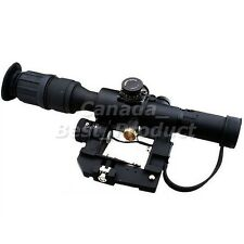 Airsoft Tactical Solid Red Illuminated SVD 4x26 Dragunov Sniper Scope for rifle