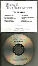 Ian McCulloch ECHO & THE BUNNYMEN Fountain USA ADVNCE PROMO DJ CD MINT 2009 and