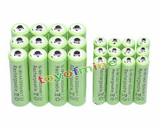 12 AA + 12 AAA 3000mAh Ni-Mh rechargeable battery green