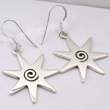 """Earrings 1.7"""" Factory Direct Jewelry 925 Solid Silver Beautiful Spiral Dangle"""