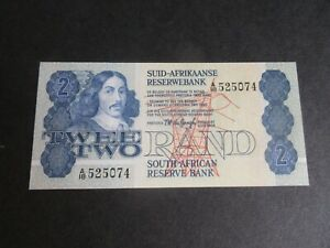 SOUTH AFRICA, 1973-94 ISSUE, 2 RAND P118, SIG 5 - DE JONGH 1978-81 - UNC