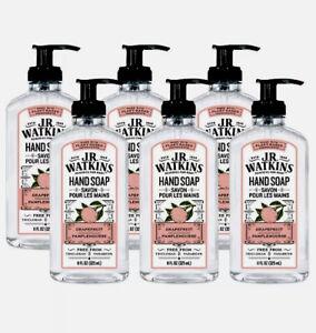 Lot Of 6 Bottles, J.R. Watkins Grapefruit Liquid Hand Soap 11 fl oz, NEW