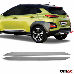 Fits Hyundai Kona 2018-2021 Chrome Exhaust Trim Pipe S. Steel 2 Pcs