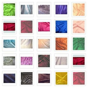41 COLORS AVAILABLE VELVET PANNE CRUSHED BACKDROP VELOUR STRETCH FABRIC BTY