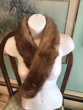 VNTG Mademoiselle Furs Mink Fur Wrap Scarf STOLE NECK COLLAR CLIPS Velvet Lined