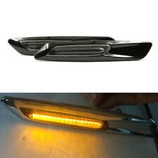 2pcs Amber/White 18LED Fender Side Marker Turn Signal Light For BMW 1/3/5 Series