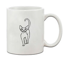Devon Rex Cat Black White Ceramic Coffee Tea Mug Cup 11 Oz