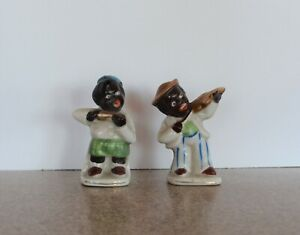 Two Decorative Collectible Black Americana Figurines: Made in Occupied Japan
