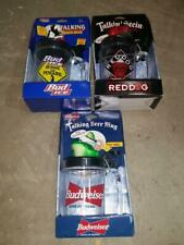 3qty Talking Beer Mugs Stein Budweiser Toad Red Dog Bud Ice Penguin Nos