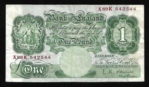 Great Britain - 1 Pound Note (1955-60) P369c - VF