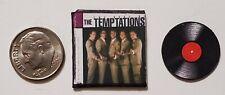 "Dollhouse Miniature Record Album 1"" 1/12 scale The Temptations Motown Music.."