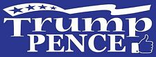 Trump Pence Thumbs Up Decal For Vehicles & Windows Large  4 x 10 3/4 White Vinyl