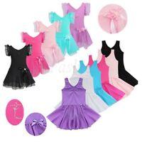 Girls Tutu Ballet Leotard Dance Wear Dress Ballerina Fancy Outfits Skirt Costume