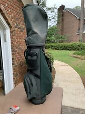 Macgregor Vintage Green Canvas Golf Bag With Rain Cover Great Used Condition