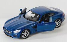BLITZ VERSAND Mercedes AMG GT blau / blue Welly Modell Auto 1:34 NEU & OVP