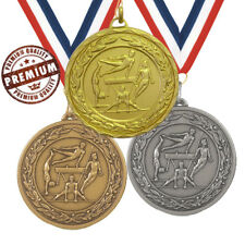 GYMNASTIC MEDAL 50mm EMBOSSED TOP QUALITY, WITH FREE RIBBON, GOLD SILVER BRONZE