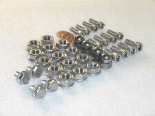 Suzuki RGV250 87-98 2-Cylinders only 38pc Stainless Flange & Dome Nut & Bolt kit