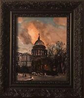 Original Ölgemälde St.Pauls Cathedral London Impressionismus Inkl. Rahmen